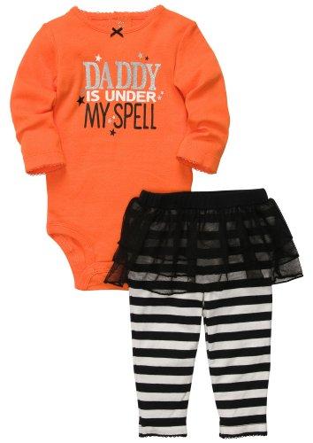 Carter's Halloween Tutu 2-pc Set - Orange- 9 Months