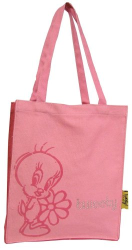 Pie 'Avenue Summer Bag Shopping The Bag Light Genuine Stars' Tweety Tote Of Cotton Pink pxF7twqH76