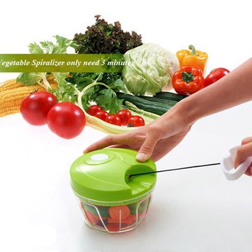 Vegetable Food Chopper Hand Speedy Veggie Meat Chopper Shredder Slicer Cutter