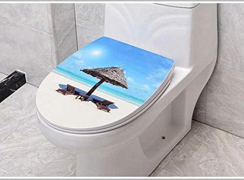 YSDHE ソフトクローズアジャスタブルヒンジクイックリリーストップ付き便座V/U/O形状互換性の便座は、トイレのふたをマウント (Color : D)