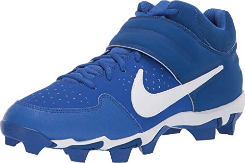 - Nike Men's Alpha Huarache Varsity Keystone Mid Molded Baseball Cleat Game Royal/White Size 10 M US