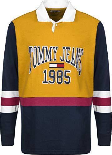Jaune Sweat Rugby Jeans Bleu Retro Tommy qAZ8wU7
