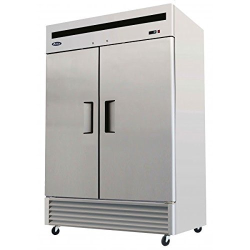 Automatic Stainless Steel Freezer - Atosa USA MBF8507 Series Stainless Steel 54-Inch Two Door Upright Refrigerator - Energy Star Rated