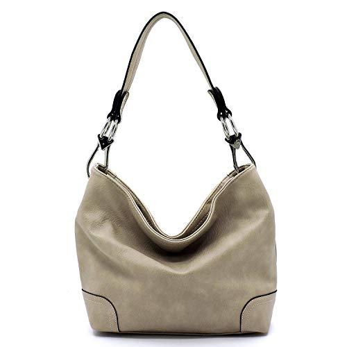Vegan Faux Leather Bucket Shoulder Handbag Classic Purse