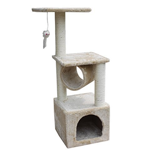Deluxe Heated Dish Dispenser (Deluxe Cat Tree Condo Furniture Scratching Post Pet House Play Toy, 36 by gotostar)