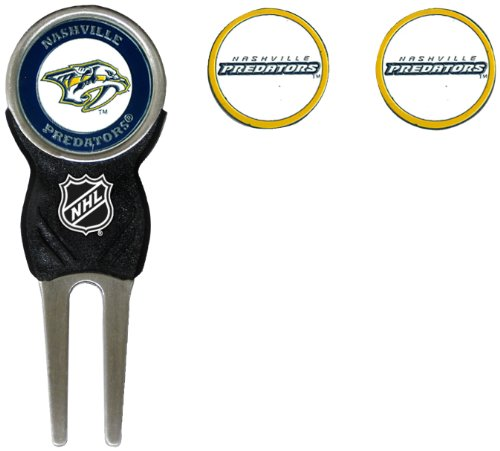 NHL Nashville Predators Divot Tool Pack With 3 Golf Ball Markers