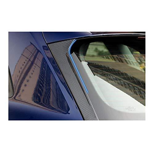 2Pcs Chrome Rear Window Spoiler Side Wing Triangle Cover Trim Molding Garnish Decoration for Audi Q5 2018 2019