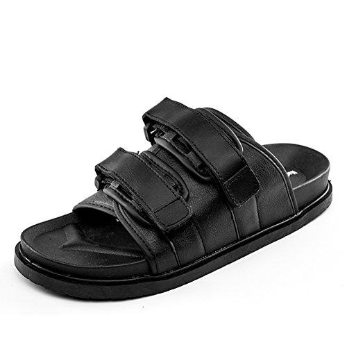 libre aire Zapatillas hombre Black de PU en natación al Marrón playa de para para la impermeables Negro el Sandalias Chanclas hogar Zapatos 1T1Uxrwtq