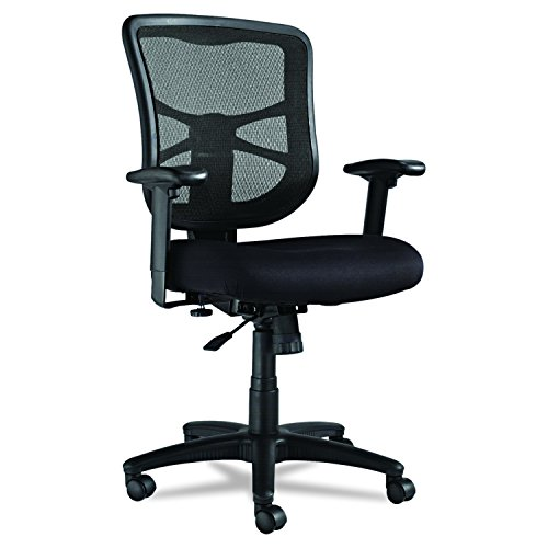 Alera Elusion Series Mesh Mid-Back Swivel/Tilt Chair, Black by Alera