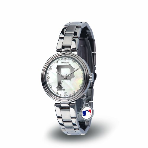 (MLB Pittsburgh Pirates Charm Watch, Silver )