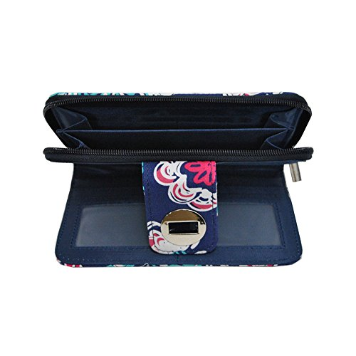 Lock Twist Quilted Wallet NGIL navy Blossom Medievil qASwExZE