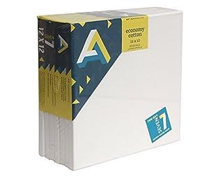 Art Alternatives 12x12 inch Economy Artist White Canvas Super Value Pack - Pack of 7