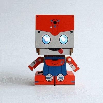 Max Module Kit - MU SpaceBot (orange) - Max: DIY Interactive Robot Building Kit (Bluetooth + LED module) | USPS Priority 2-3 days shipping