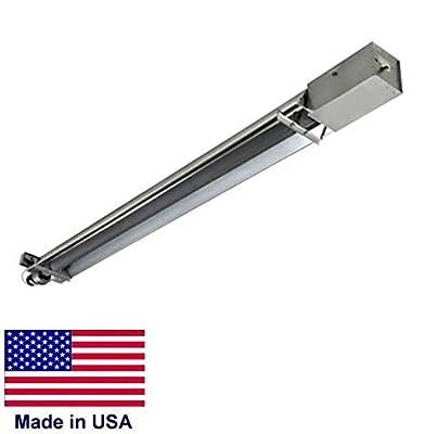 Straight Tube Heater Commercial - Infrared - Lp Propane - 30 Ft - 100,000 Btu
