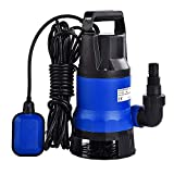 Uenjoy Murtisol Submersible Water Pump 1/2HP 2100GPH-400W 8000L/H Clean Dirty Water Transfer Garden Pool Outdoor