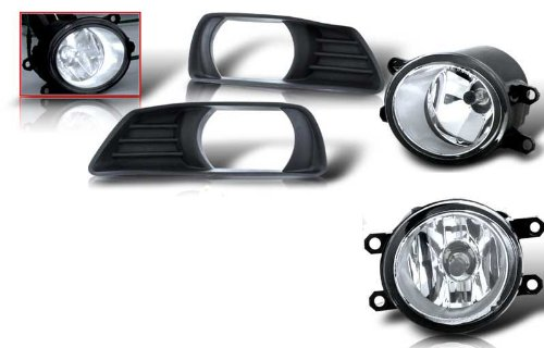 07-09 Toyota Camry Oem Fog Light - Clear (Wiring Kit Included) (Pair)