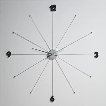 design wanduhr riesige a 99cm quotumbrellaquot von delights uhr l57 silber ka 1 4 chenuhr wanduhren digital