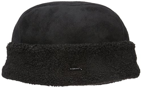 Kangol Men's Faux Shearling cossack, Black, S