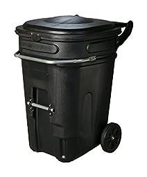 Eagle 1697BLK Wheeled Waste e-Cart with Lid, 95 gal, Black