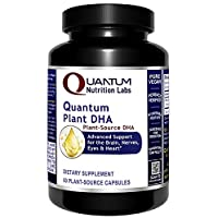 Quantum Nutrition Plant DHA, Dietary Supplement, 60 Plant-Source Capsules, Advanced Support for The Brain, Nerves, Eyes, and Heart