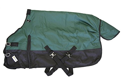 Medium Weight Pony Turnout Blanket 1200D Rip Stop Water Proof Green, 60'' by AJ Tack Wholesale
