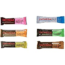 Oatmega Nutrition Bars Variety 12 Pack, 6 Different Flavors ,Pack of 12 ( 2 bars of each )