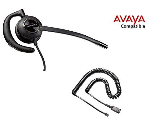 avaya compatible plantronics encorepro 530 hw530 voip noise canceling headset bundle avaya 1408