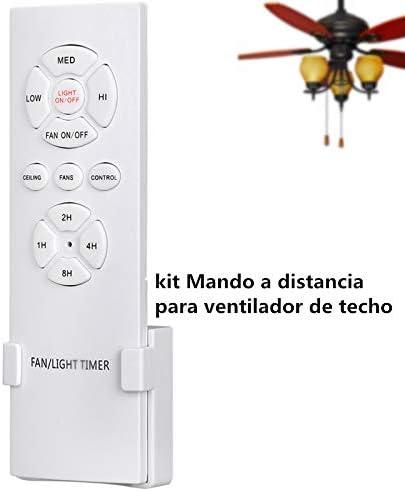 Hezbjiti Mando a Control Remoto para Ventilador de Techo, Control ...