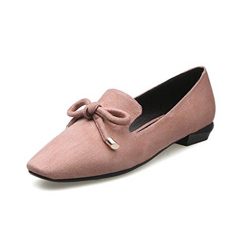 zapatos aguja Primavera los Asakuchi Dulce Zapatos tacón y de coreana Zapatos Joker versión C bajo tapas de zapatos Mujer de de BPHpWp