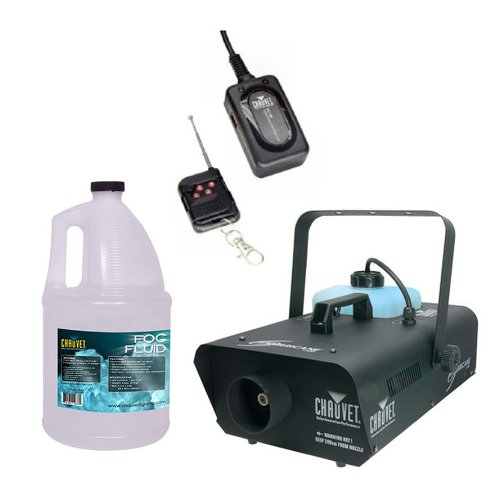 CHAUVET Hurricane H1300 Fog/Smoke Machine + FC-W Wireless Remote + FJU Fog Fluid by CHAUVET DJ