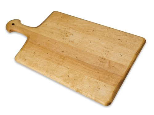 J.K. Adams 17-3/4-Inch-by-11-Inch Hardwood Artisan Cutting Board, Paddle-Shaped made in Vermont