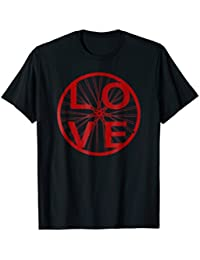 Cycling Love T-shirt Bike Series | Red Distressed