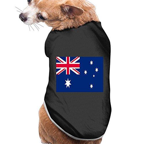 Shenghong Lin Australia Flag Summer Pet Clothes Pet T-Shirt Dog Cat Top Vest Clothes Puppy Costumes Pet Coats Black -