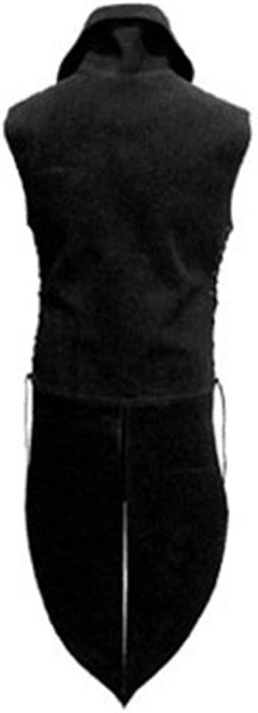 Homme Gilet Long Punk sans Manche Veste Gothique Renaissance Haut Cosplay Costume