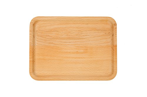 WOOD MEETS COLOR Wood Plate Handmade Tray, Food  Fruit Plate, Creative Tableware, 10 Inch (Rectangle)
