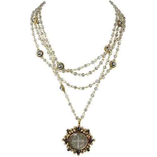 San Benito Cloister Magdalena Necklace - Gold, Black Diamond - VSA - Virgins Saints Angels Jewelry