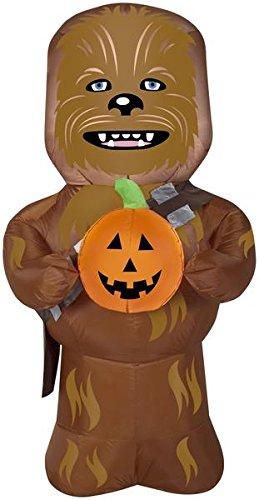 Gemmy Airblown Star Wars Chewbacca with Pumpkin Halloween Inflatable
