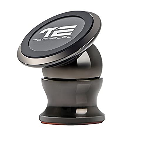 TechElec Universal Magnetic Phone Car Mount Holder 360° Rotation for iPhone 7, 7 Plus, 6, 6s, Samsung, Galaxy, HUAWEI, All Smartphones, GPS, Light Tablets and Any Vehicle