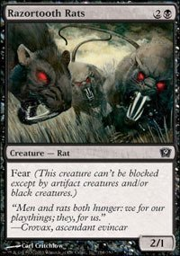 - Razortooth Rats - Ninth Edition - Foil by Magic: the Gathering ()