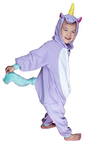 [BELIFECOS Childrens Purple Unicorn Costumes Animal Onesies Cosplay Homewear Pajamas] (Animals Dressed Up In Halloween Costumes)