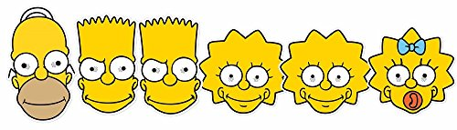Star Cutouts SMP354 Homer/Lisa/Bart/Maggie Simpson Mask -