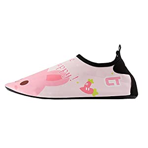 WXDZ Kids Water Shoes Swim Shoes Mutifunctional Quick Drying Barefoot Aqua Socks for Beach Pool MS0239 Pink rabbit 22/23