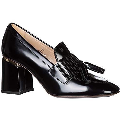 Tod's Femme Escarpins Chaussures À Talon Noir En Cuir q17pqwa