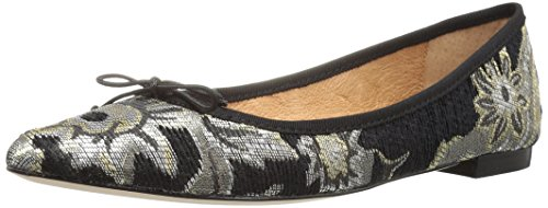 Corso Como Women's Recital Ballet Flat, Black Metal, 9.5 M US