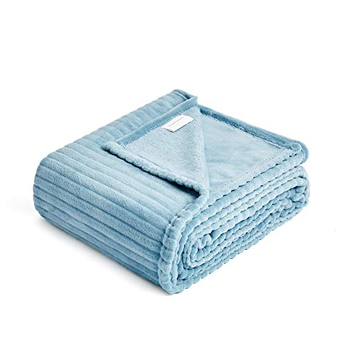 - FFLMYUHUL I U Fuzzy Throw Blanket with Super Soft and Warm Throw Flannel Blanket 50'' X 60'' Light Blue