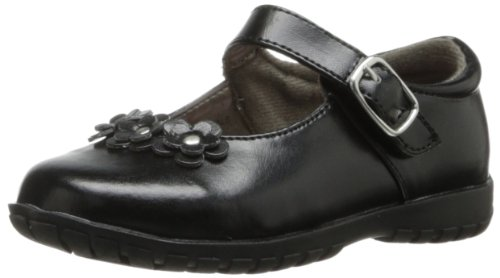French Toast Becki Mary Jane (Toddler),Black,10 M US (Black Flower Girl Shoes)