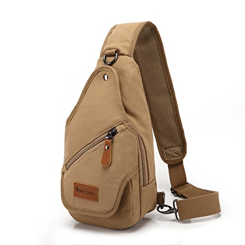 bolsa de lona Varonil pecho/Diagonal casual individual masculino hombro pecho Pack/ mochilas Ola coreana lona hombres-F F