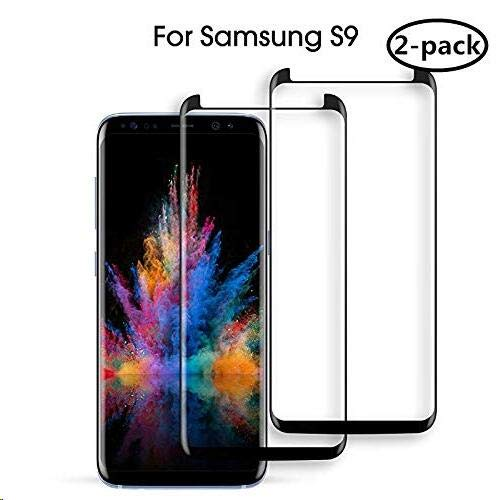 Galaxy S9 Screen Protector, [9H Hardness] [Anti-Scratches] [Anti-Fingerprint] Tempered Glass Screen Protector Film Compatible Samsung GalaxyS9.[2-Pack]