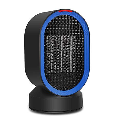Calentador Portable del Espacio Ventilador Portátil Cerámica de Escritorio Oscilante Calentador Eléctrico para Oficina...