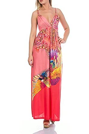 Martildo Fashion Ladies Tropical Long Summer Holiday Maxi Dress